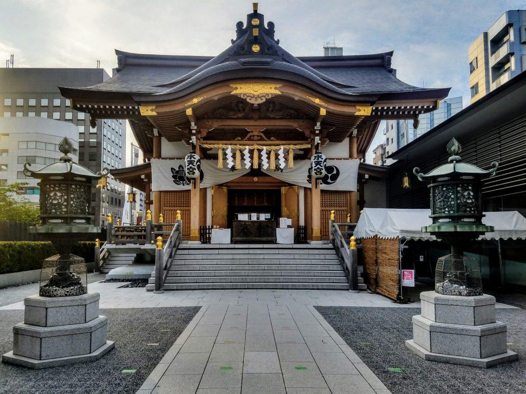 Main Shrine Pavilion at Suitengu