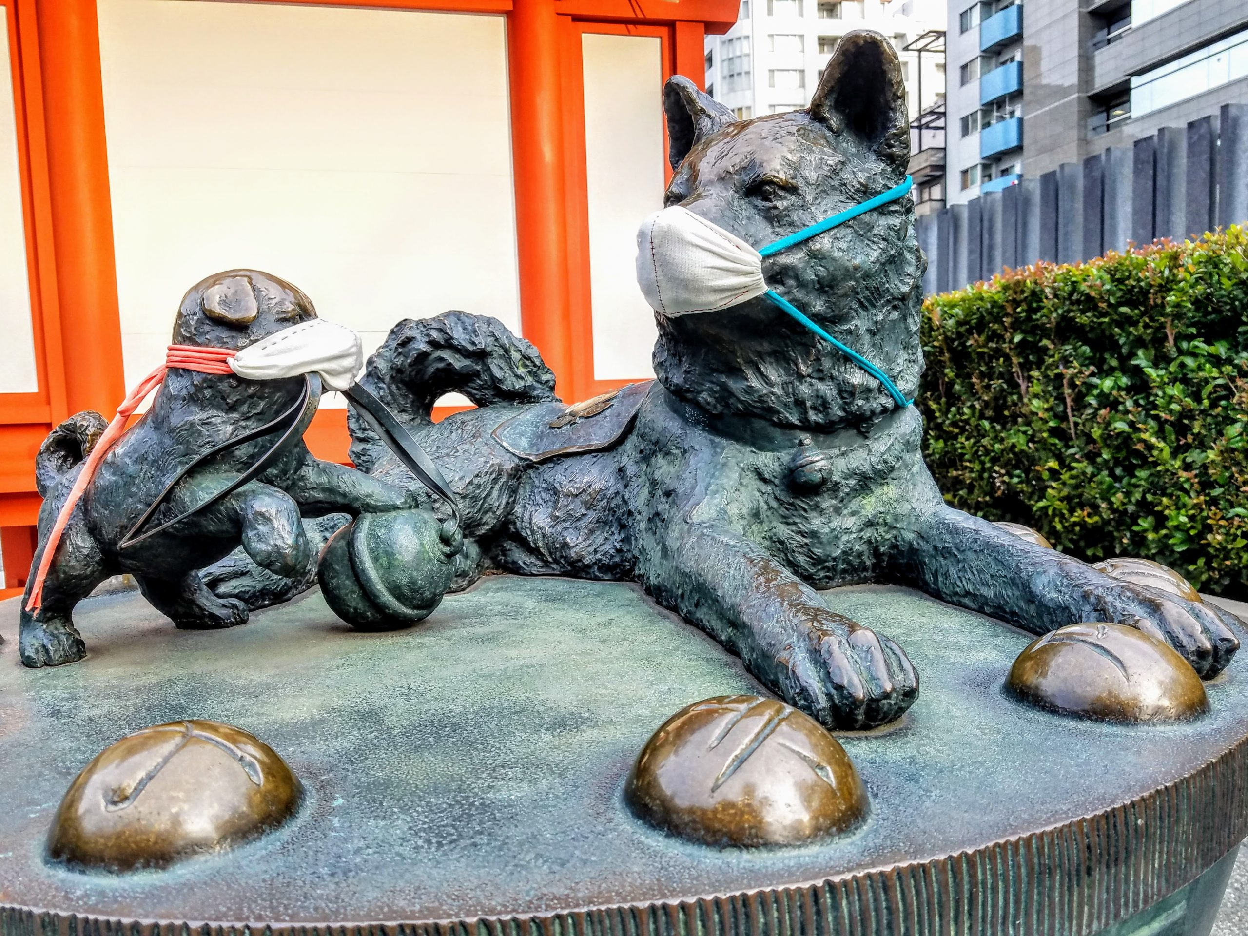 Dog statue at Suitengu Shrine, Nihonbashi, Tokyo