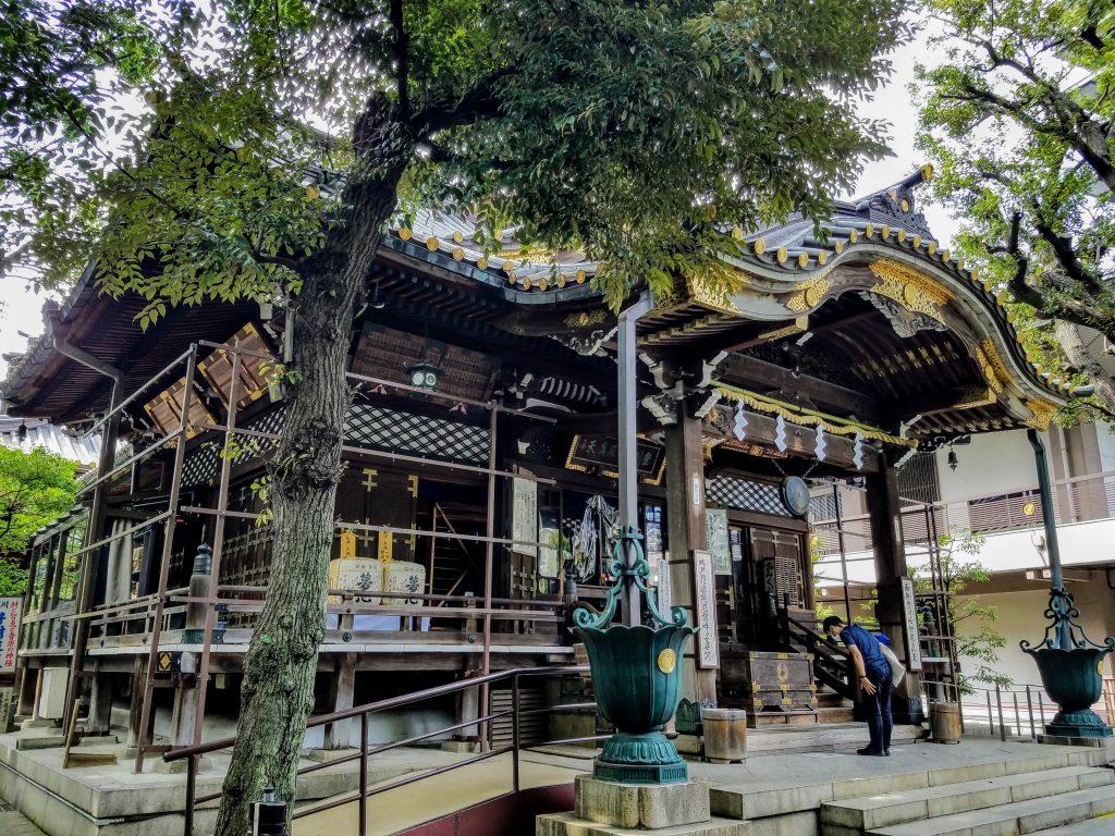 Main temple where the deity Toyokawa Dakinishinten is enshrined at Toyokawa Inari Tokyo Betsuin in Akasaka, Tokyo