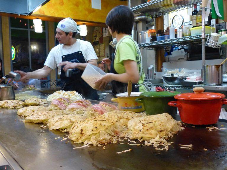 Hiroshima-style at Lopez Okonomiyaki in Hiroshima